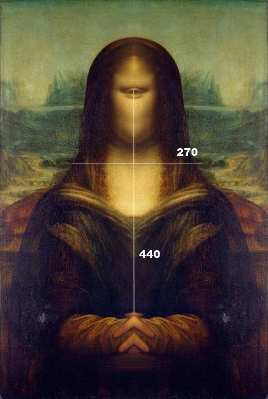 Mona Lisa mirrored from the middle and thus looks like Cyclops.